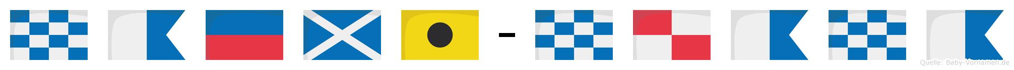 Naemi-Nuana im Flaggenalphabet