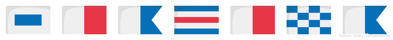 Shachna im Flaggenalphabet