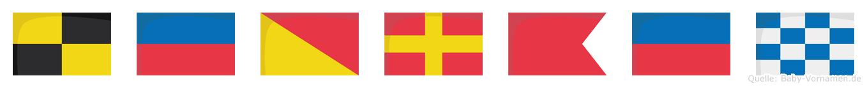 Leorben im Flaggenalphabet