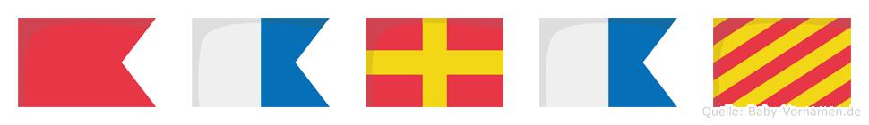Baray im Flaggenalphabet