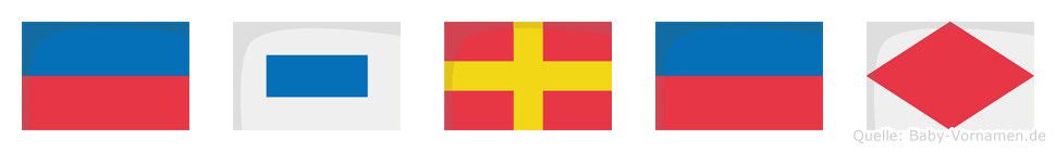 Esref im Flaggenalphabet