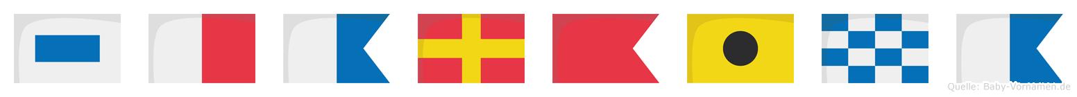 Sharbina im Flaggenalphabet