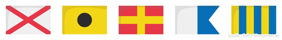 Virag im Flaggenalphabet