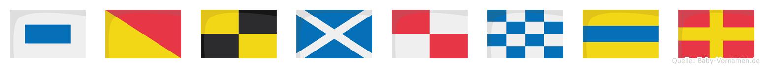 Solmundr im Flaggenalphabet