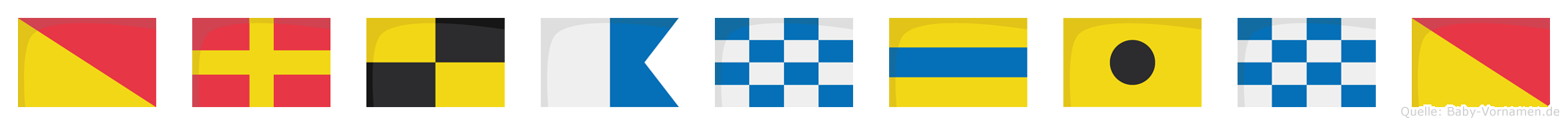 Orlandino im Flaggenalphabet