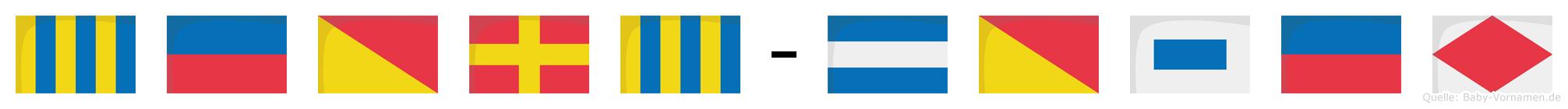Georg-Josef im Flaggenalphabet