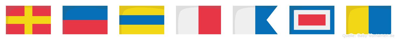 Redhawk im Flaggenalphabet