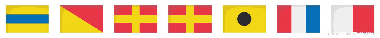 Dorrith im Flaggenalphabet