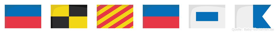 Elyesa im Flaggenalphabet