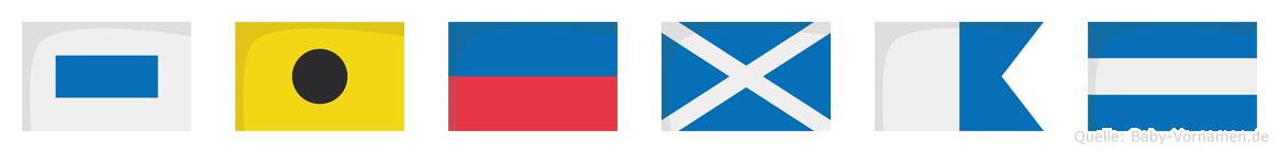 Siemaj im Flaggenalphabet