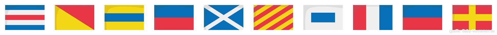 Codemyster im Flaggenalphabet
