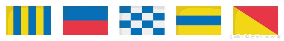 Gendo im Flaggenalphabet