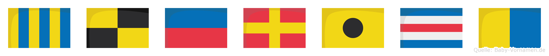Glerick im Flaggenalphabet