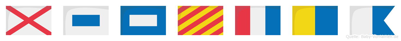 Vspytka im Flaggenalphabet