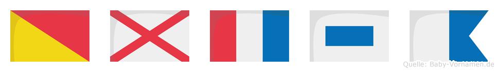 Ovtsa im Flaggenalphabet