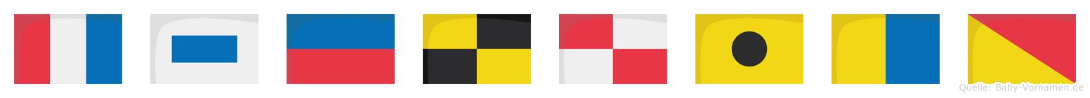 Tseluiko im Flaggenalphabet