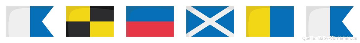 Alemka im Flaggenalphabet