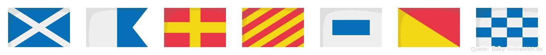 Maryson im Flaggenalphabet