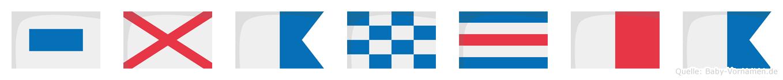 Svancha im Flaggenalphabet