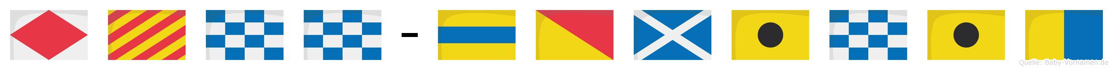Fynn-Dominik im Flaggenalphabet