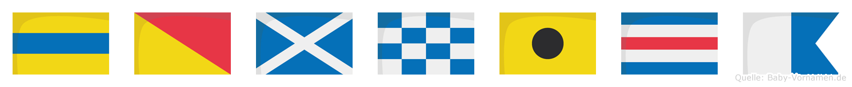 Domnica im Flaggenalphabet