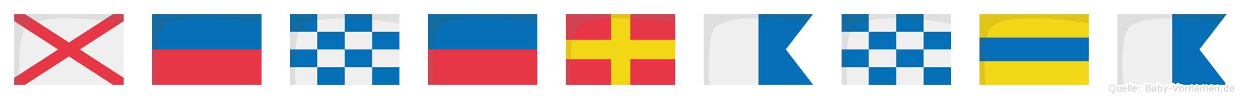 Veneranda im Flaggenalphabet