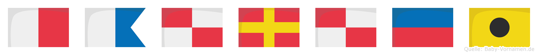 Hauruei im Flaggenalphabet