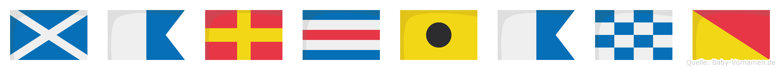 Marciano im Flaggenalphabet