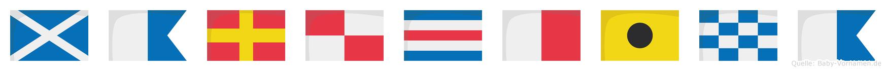 Maruchina im Flaggenalphabet