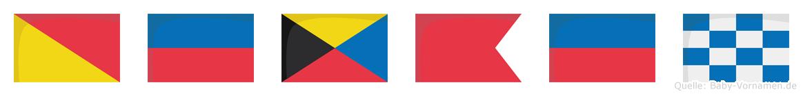 Özben im Flaggenalphabet