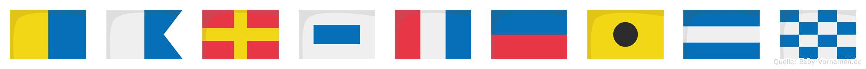 Karsteijn im Flaggenalphabet