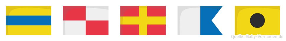 Durai im Flaggenalphabet