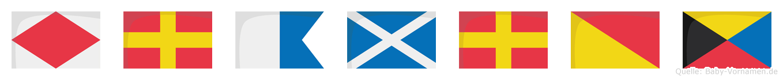 Framroz im Flaggenalphabet