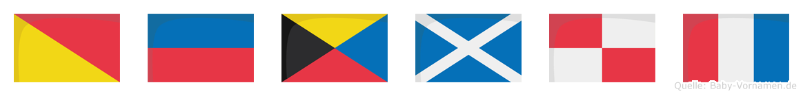 Özmut im Flaggenalphabet