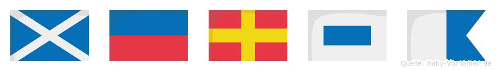 Mersa im Flaggenalphabet