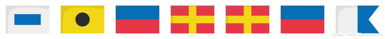 Sierrea im Flaggenalphabet