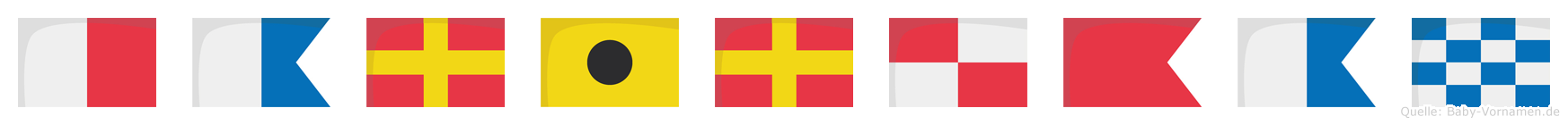 Hariruban im Flaggenalphabet