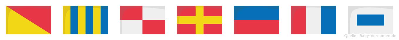 Ogurets im Flaggenalphabet