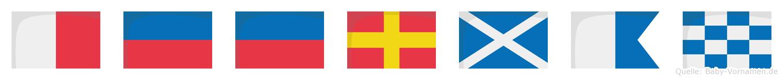 Heerman im Flaggenalphabet