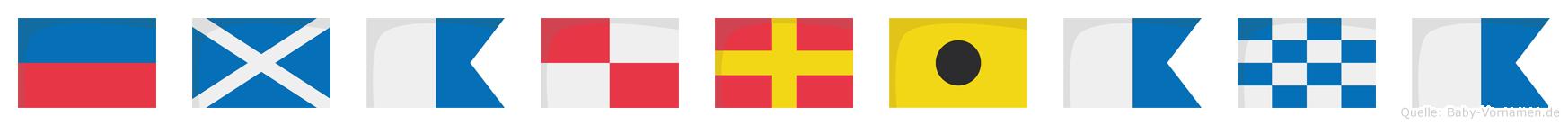 Emauriana im Flaggenalphabet