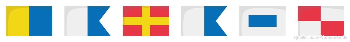 Karasu im Flaggenalphabet