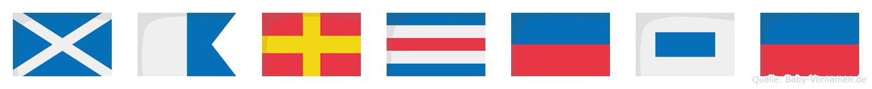 Marcese im Flaggenalphabet
