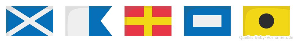 Marpi im Flaggenalphabet