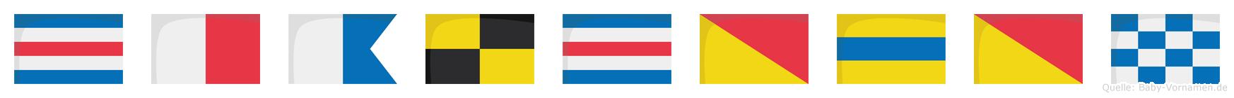 Chalcodon im Flaggenalphabet