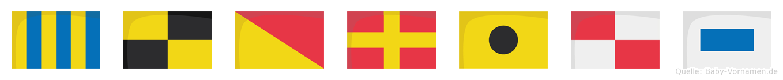 Glorius im Flaggenalphabet