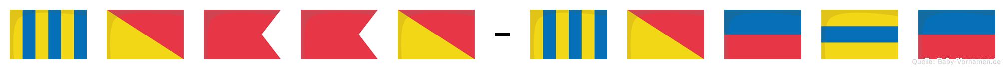 Gobbo-Göde im Flaggenalphabet