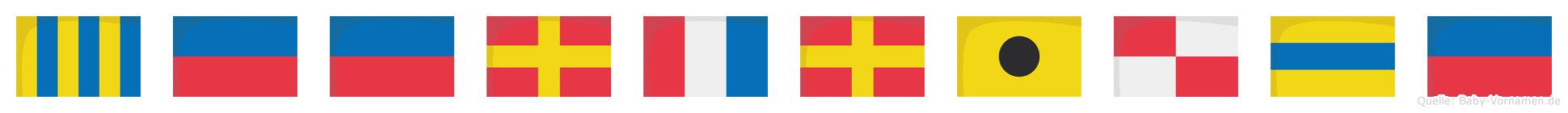 Geertriude im Flaggenalphabet