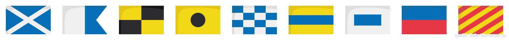 Malindsey im Flaggenalphabet