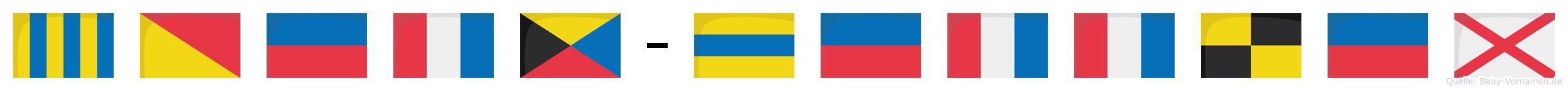 Goetz-Dettlev im Flaggenalphabet