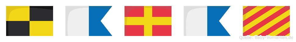 Laray im Flaggenalphabet